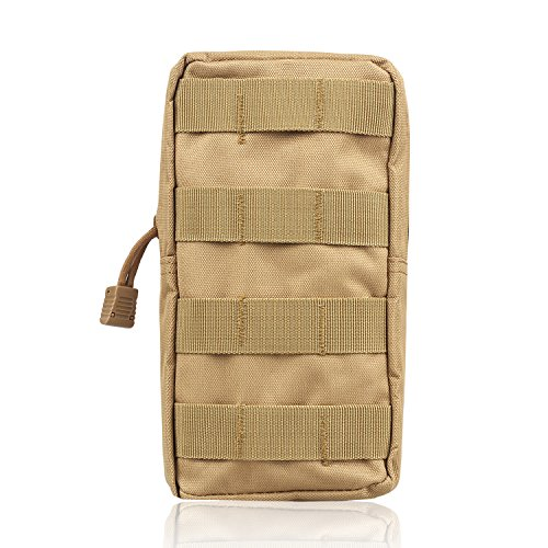 AMYIPO MOLLE Pouch Multi-Purpose Compact Tactical Waist Bags Small Utility Pouch (8x4 - Khaki Pouch Gps