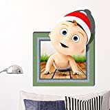 IndButy Wall Stickers 3D Wall Stickers (kids) Wallpapers/Bedrooms/Kids Rooms/Living Rooms/TV/Sofas/Backgrounds/HD/Stickers/Stickers (71.558cm)
