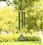 "Agirlgle Wind Chimes Outdoor Large Black 30""Windchimes Garden Amazing Grace with 5 Aluminum Alloy Tubes Tuned Memorial Wind Chimes Indoor, Perfect Decoration for Your own Patio, Porch, Garden, or"