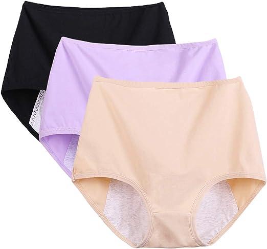 April Story Menstruales Calzoncillos a Prueba de Fugas Ropa Interior Menstrual Mujer Bragas 3 Unids Pantalones Fisiológicos Algodón Gran Tamaño Cintura Alta,XL: Amazon.es: Hogar