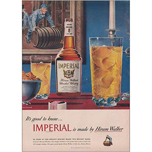 RelicPaper 1948 Hiram Walker Imperial Whiskey: Its ()