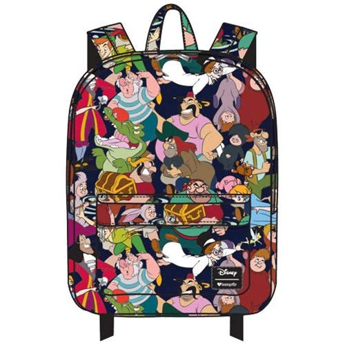 Disney Peter Pan Captain Hook Wendy Character School Backpack by Loungefly, Multi, Medium