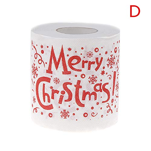 Cha Long 30m/pack Christmas Toilet Paper Roll Merry Christma