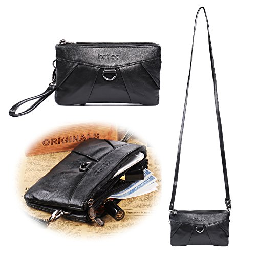 Katloo Leather Wristlet Handbag Organizer