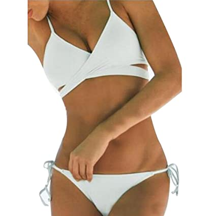 8739af933d Image Unavailable. Image not available for. Color  Vanvler Women Push Up  Padded Bra Bandage Bikini Set Swimsuit Bathing Suit ...