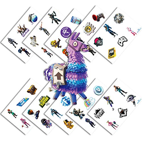 (Video Game Party Favors - Temporary Tattoos for Boys Birthday - 60 Tattoos Pack of 10 Sheets - Valentines Day Gift for)