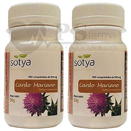 CARDO MARIANO 500 mg. 2 x 100 Comp. SOTYA: Amazon.es: Salud y cuidado personal