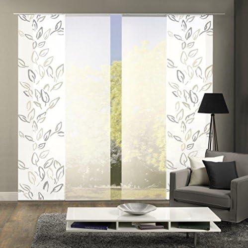 Fuchsia blickdichter Dekostoff Farbe: 6er-Set Schiebegardinen Butterfly 6X jeweils 245x60 cm Home Fashion 96616