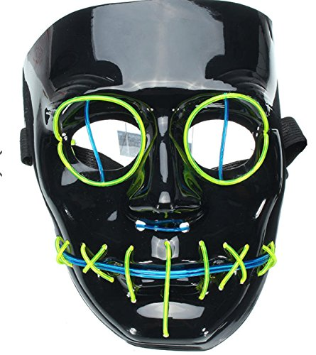 Halloween Flash El Wire Led Glowing Beauty Christmas Party Mask Hot Sale by Superjune