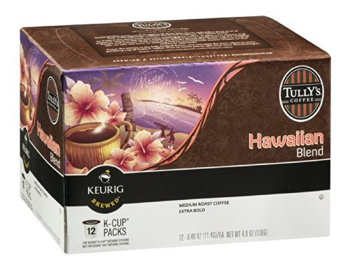 Tully's Coffee Hawaiian Blend Medium Roast K-Cup 12 CT (Pack of 18) by Tully's Coffee