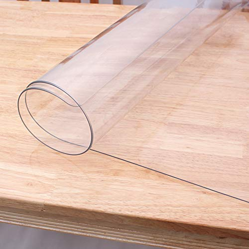 LovePads Upgraded Odorless Custom Size 1.5mm Thick Clear Table Protector Plastic Tablecloth Furniture Protective Cover Wooden Desk Top Coffee Dining End Countertop Mat 30