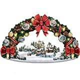 Thomas Kinkade Season's Greetings Christmas Wreath Sculpture by The Bradford Exchange