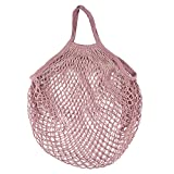 Nyalex - {Ship From US} Mesh Net Turtle Bag String Bag Shopping Reusable Fruit Storage String Shopper Hand Totes Foldable Large Capacity Grocery Handbag [Purple ]