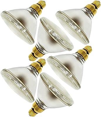 GE Energy Halogen IR Spotlight Light Bulb 1260 Lumens, 70 Watt, PAR 38 with 3000 Life Hours (6 Pack)