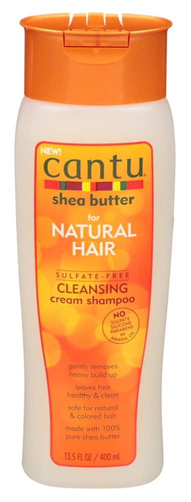Cantu Natural Hair Shampoo Cleansing 13.5 Ounce(Sulfate-Free) (399ml) (2 Pack) by Cantu
