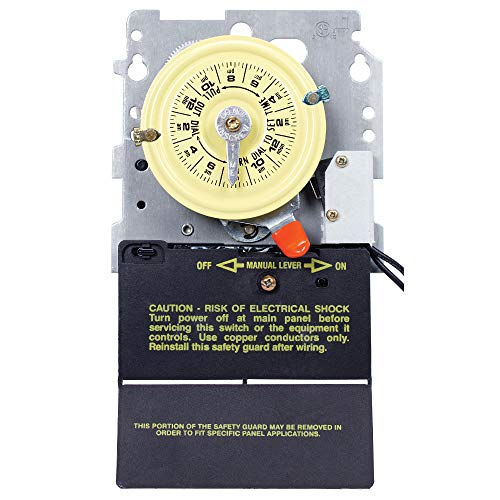 (Intermatic T104M201 24-Hour Mechanical Timer with Heat Protection DPST)