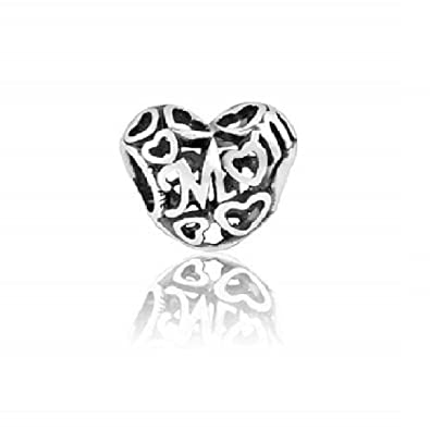 5a1c176e5 PANDORA Silver Openwork Mum Charm 791519: Pandora: Amazon.co.uk: Jewellery