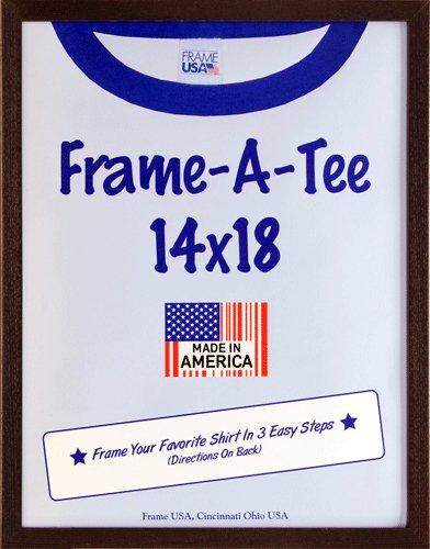 Frame USA F29310 T Shirt Frame - Walnut (14x18) - Jersey Piece Frame