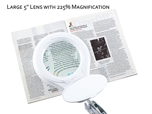 1200-Lumens-Super-LED-Magnifying-Lamp-with-Clamp-Dimmable-Microfiber-Cleaning-Cloth-Included-60PCS-SMD-LED-5-Diopter-5-Diameter-Lens-Adjustable-Swivel-Arm-Utility-Clamp-Light-by-NeatFi