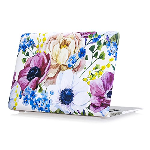 Price comparison product image Coldel MacBook Pro 13 Case 2016 Rubberized Plastic Hard Cover for MacBook Pro 13 inch A1706/A1708 with/without Touch Bar (NEWEST Release 2016)-Watercolor Flowers
