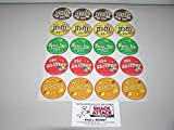 VENDSTAR 3000 BULK CANDY VENDING MACHINE (20) CANDY LABEL STICKERS - NEW OEM!