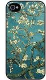 Generic S9Q Sakura Vintage Flower Watercolor Art Tribal Tree Pattern Hard Back Skin Case Cover for Apple iPhone 4/4s - Non-Retail Packaging - Multi
