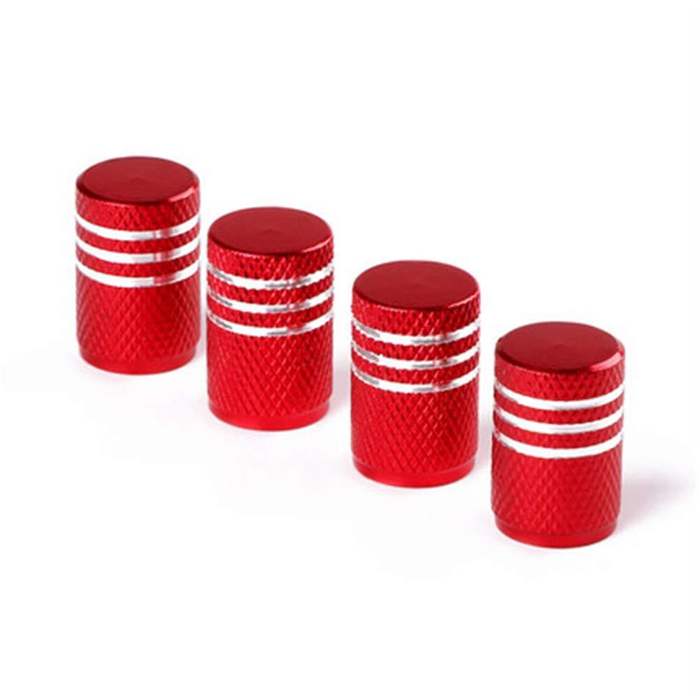RAILONCH Bouchon De Valve De Pneu Alliage Daluminium Voiture Anti-Poussi/ère Accessoires rouge,Hexagone