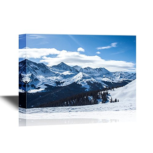Snow Covered Mountains under Sunny Sky Gallery