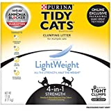 Purina Tidy Cats LightWeight 4-in-1 Strength Clumping Dust Free Cat Litter - 17 lb. Box
