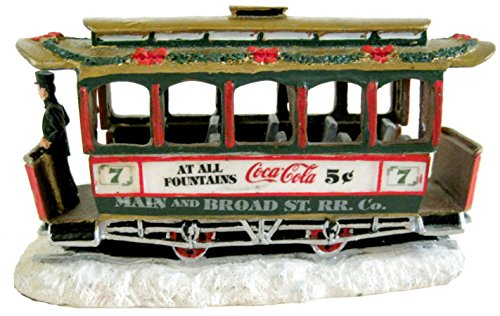 (Town Square Collection Coca-Cola Old Number Seven Trolley Car Item 64310 Christmas Village #7 Trolley)