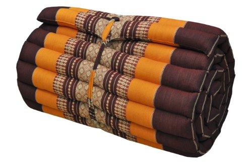 Thai mattress small size (55/180), brown/orange, relaxation, beach cushion, pool, meditation, yoga (81113) by Wilai GmbH