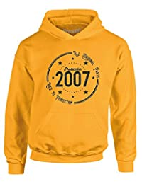 Brand88 - Born in 2007: Aged to Perfection, Kids Printed Hoodie
