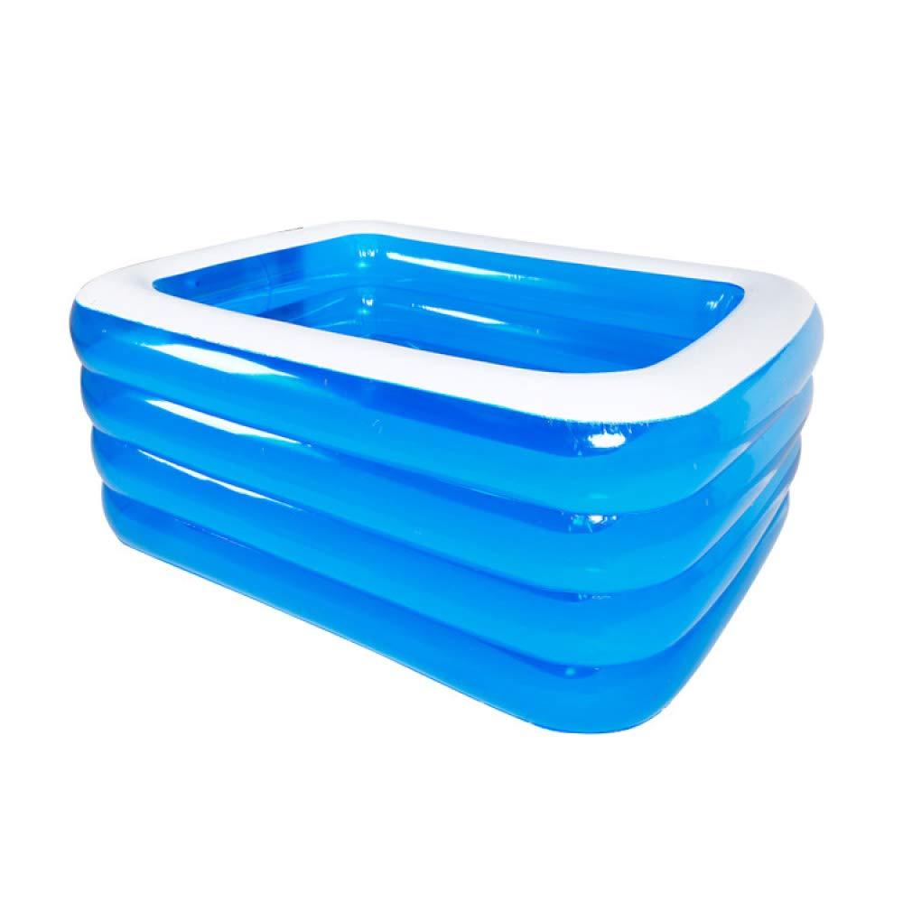 ZHKGANG Aufblasbares Schwimmbad Im Freien Garten Sitzgelegenheiten Pool Haus Verdickt Rechteckigen Pool Sommer, Blau-3layers-428  210  60cm Blau-4layers-15010572cm