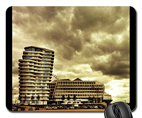 Mouse Pads - Marco Polo Tower Hamburg Harbour City Germany Port ()