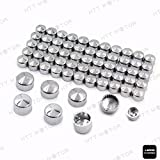 HTTMT MT247-020- 63pcs Chrome Caps Cover Kit Compatible with 04-15 Harley Sportster Engine & Misc Bolt Nut