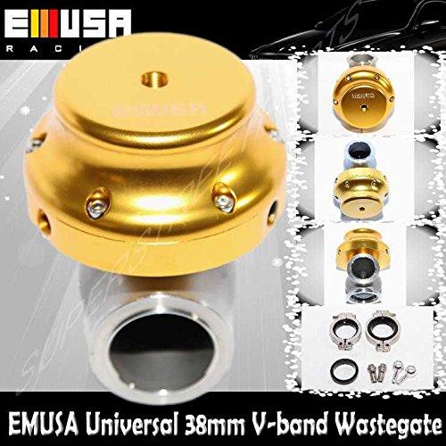 EMUSA 38mm Wastegate V-Band GOLD DSM EVO VR6 For S13S14 350z Honda Accord