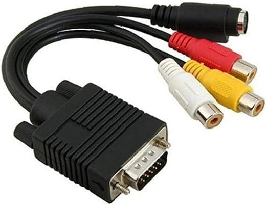 OMMO LEBEINDR Vga a RCA Cable 3 RCA TV para Pc Portátil Proyector LCD Monitor De 17 Cm / 7 Pulgadas Vga a RCA Cable: Amazon.es: Hogar