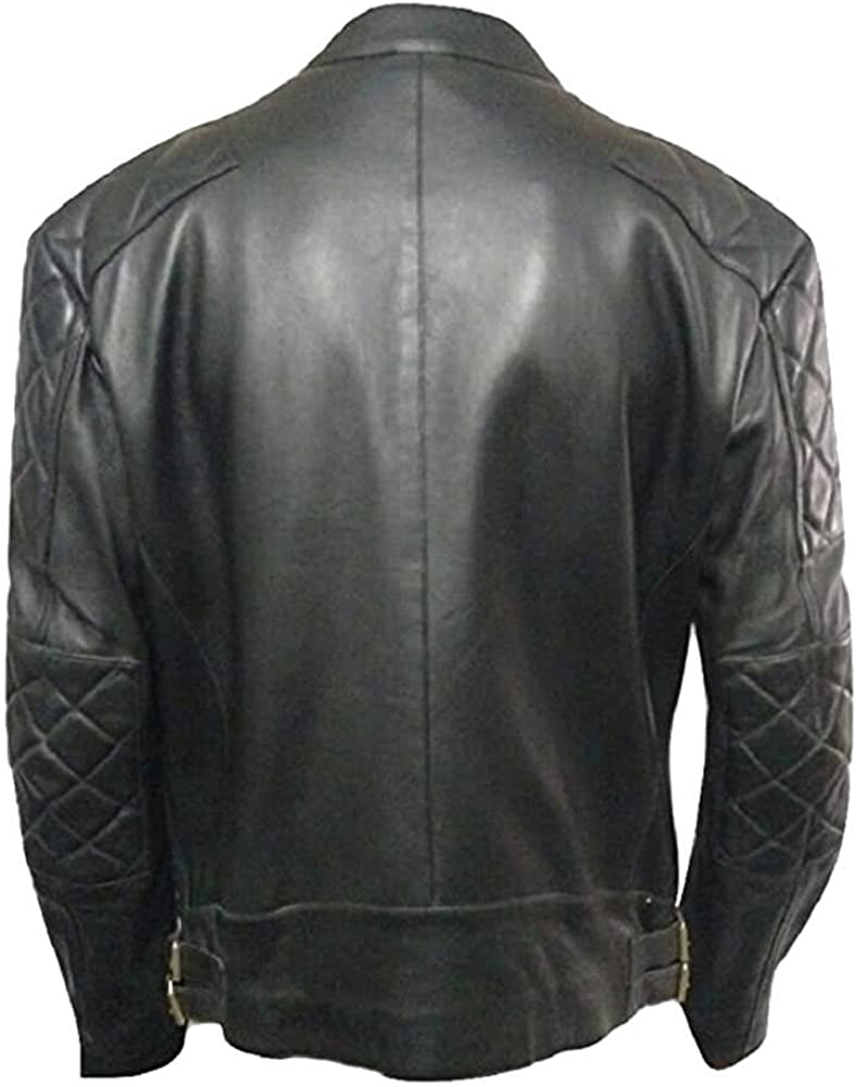 SleekHides Mens Fashion Leather Jacket Beckham Style