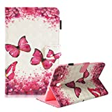 Funyye Soft PU Leather Case for Samsung Tab E 9.6 T560,Magnetic Flip Kickstand Cover Premium Wallet Cards Slots with Money Holder Lightweight Smart Cover for Samsung Tab E 9.6 T560,Red Butterfly