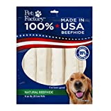 Pet Factory USA Value-Pack Beefhide 8-Inch Retriever Rolls Chews for Dogs, 10-Pack (Package may Vary)