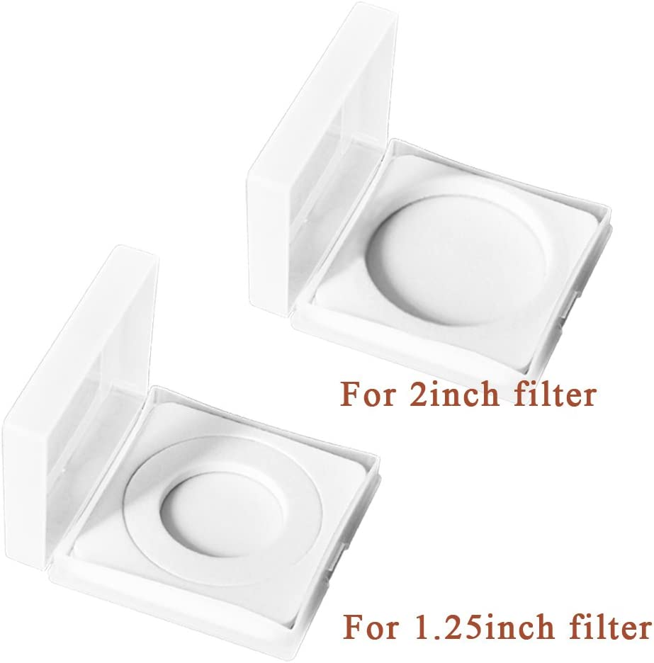 4 Pcs in a Set Cases for Filters 1.25 and 2 Storage Cases//Box for 1.25 and 2 Telescope Filters or Other Filters
