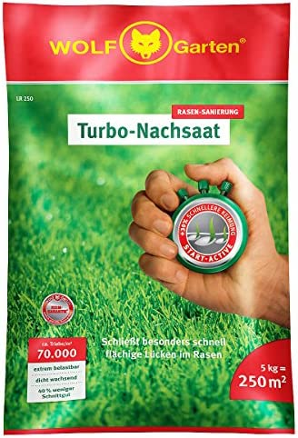 WOLF-Garten Nachsaat-Rasen für 250qm - LR250 neu