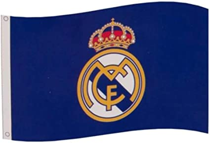 Amazon Com Real Madrid Fc Core Crest Flag Sports Outdoors