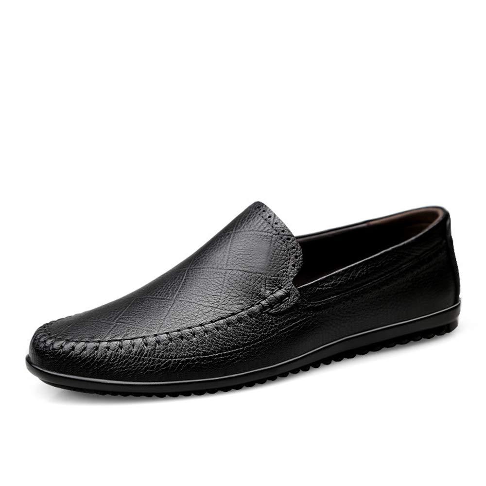 Fuxitoggo Mens Large Größe Loafers weiche Sohle Nicht Slip lässig Breath Slip auf Fahr Schuhe (Farbe   Schwarz, Größe   EU 42)