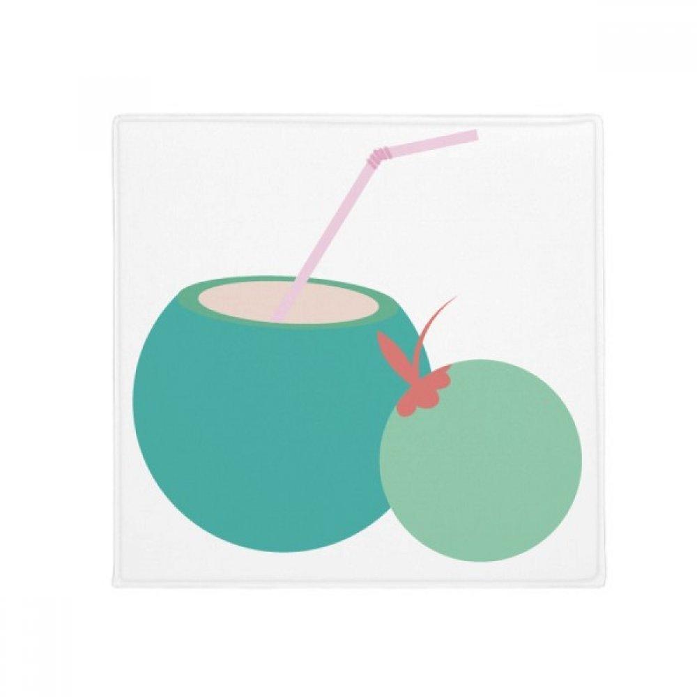 DIYpensatore Thailandia Coconut Juice Art Illustration Anti -slip Floor Pet Mat Square Home Kitchen porta 80Cm Gift