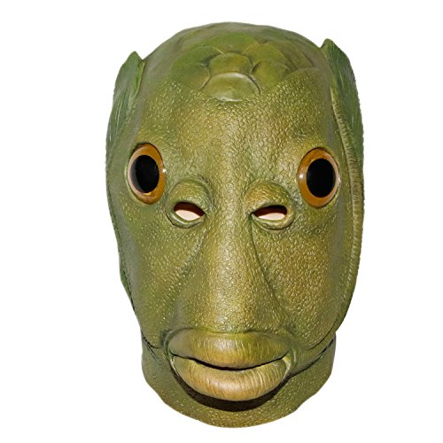 waylike Fish Head Mask Latex Animal Party Costumes Halloween Cosplay -