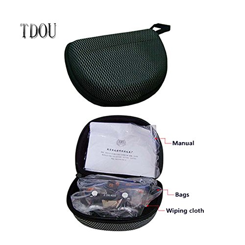 Tdou 2.3X FD504G Private Custom Quartz Lenses Embedded Magnifying Glass Titanium Alloy Frame High-End Grade with High-Grade Mahogany Box (58) by Tdou (Image #4)