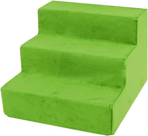 Escaleras de Perro Escalera para Perros de 3 Pasos en Cama Alta, rampa para Mascotas, Escalera para Mascotas, Gato y Perro Escalera Mascota pequeña (Color : Green): Amazon.es: Hogar