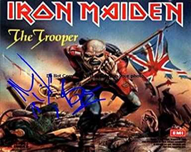 Iron Maiden The Trooper Autographed Preprint Signed 11x14 Poster Photo