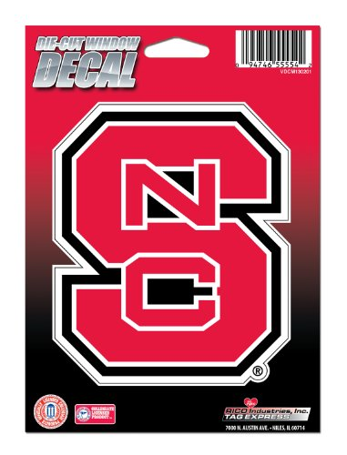 NCAA North Carolina State Wolfpack Die Cut Vinyl Decal with Backing (State North Carolina Car)